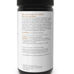 Care by Nature UnoCardio 1000 Achterzijde product NutroFlax ColdMilled