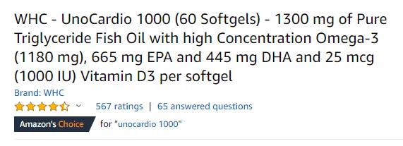 Care by Nature UnoCardio 1000 Amazon Reviews Beoordelingen